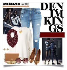 Denim Kings by laaudra-rasco on Polyvore featuring polyvore, fashion, style, URBAN ZEN, Frame Denim, Tory Burch, Todd Reed, Accessorize, Kate Spade, Charlotte Russe, Oliver Peoples and Alima