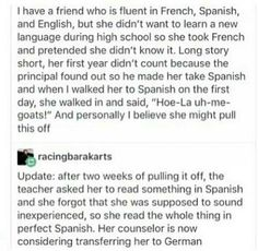 What does it even matter if she already knows the languages? Like, seriously, who cares? No one even remembers the… http://ibeebz.com