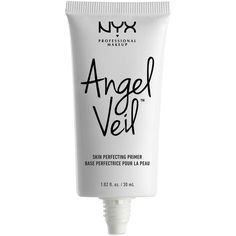 Nyx Professional Makeup Angel Veil Skin Perfecting Primer (950 RUB) ❤ liked on Polyvore featuring beauty products, makeup, face makeup, makeup primer, no color and nyx