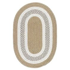 Colonial Mills Crescent Linen Oval Indoor/Outdoor Handcrafted Farmhouse/Cottage Area Rug (Common: 10 x Actual: W x L x dia) at Lowe's. This indoor/outdoor rug has it all! Popping colors…a clean, crisp pattern…and it's so easy to clean! Just hose it off! Area Rug Sets, Oval Rugs, Braided Rugs, Indoor Outdoor Area Rugs, Tans, Beige Area Rugs, Rug Size, Diy Home Decor, Braids