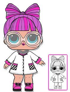 P.H.D.B.B. Series 3 L.O.L Surprise Doll Coloring Page