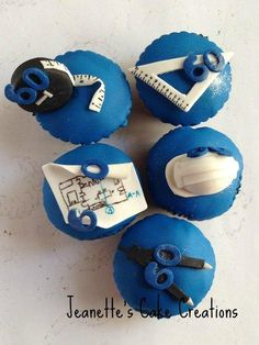 Architect's 60th Birthday cupcakes - Cake by Jeanette's Cake Creations and Courses