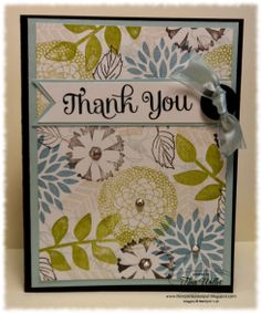 """By Tina Weller, featuring Stampin; Up! stamp sets  """"Secret Garden"""", """"Fabulous Florets"""", """"Four You"""" and the Sale-a-Bration """"Petal Parade"""". Inspiration from a Box of Tissues!"""