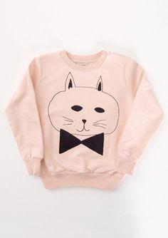 Sweat Shirt Round Neck Cat