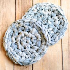 Fabric Crochet Coaster Pattern ... Awesome Upcycles with #MyFavoriteBloggers - Petals to Picots