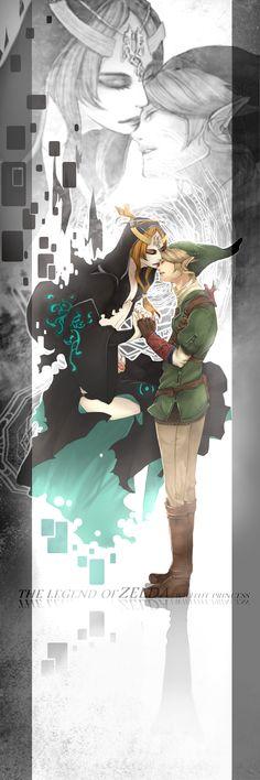 Midna (true form as the Twilight Princess) and Link - The Legend of Zelda: Twilight Princess