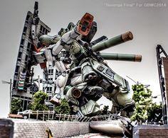 "GUNDAM GUY: 1/100 Sazabi vs. GMs ""Revenge Final"" Diorama - GBWC 2014 Korea Open Course Champion"