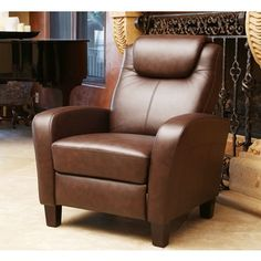 Shop for ABBYSON LIVING Abigail Top Grain Pushback Recliner. Get free delivery at Overstock.com - Your Online Furniture Shop! Get 5% in…