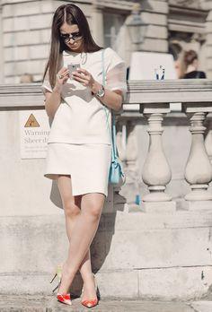 White type. london street style