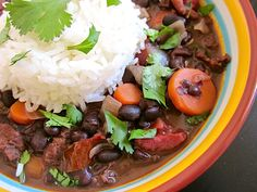 Cuban Chorizo Stew. try her approach for black beans.