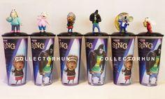 Sing movie cup + topper set Sing Movie, Beverage, Singing, Cinema, Movies, Ebay, Art, Art Background, Drink