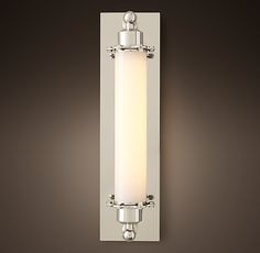 Grand Edison Milk Glass Sconce. RH