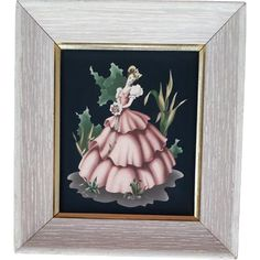 Turner Print of Southern Belle on Black 1940s - 1950s from toinetterl on Ruby Lane