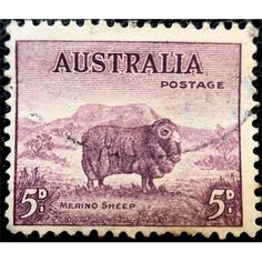 Australia, 1946 Australian Merino Sheep, 5 d, brown, used