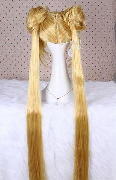 New 80cm Aino Minako Sailor Moon Long Straight Flaxen Cosplay Hair ...
