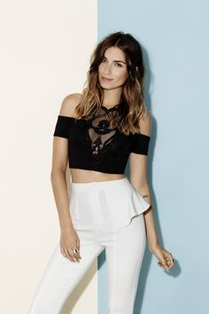 twilight lace crop top