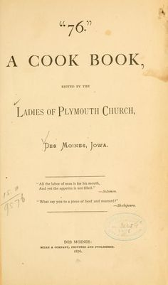 1876 cookbook...This is TOO cool