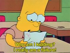 """When Bart, despite his best efforts, still gets an F. 