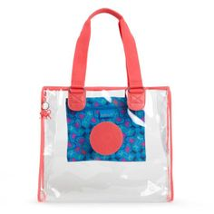 The Kipling see-through Shopper Tote is perfect for a day of boardwalk souvenir shopping or for loading up with towels and suntan lotion for laying on the beach #MakeHappy