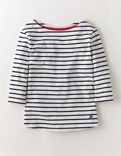 Johnnie b - Boatneck T-shirt: Snowdrop/Navy Stripe    Getting this shirt!!