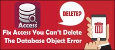 Get complete detail on why you can't delete the database object in Access. Also try some best fixes to resolve Access can't delete the database object error. Recovery Tools, Print Layout, I Can Do It, Microsoft, Objects, Detail, Canning, Print Design, Home Canning