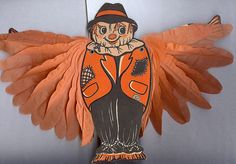 """Halloween decoration """"Winged Scarecrow"""" – Made in USA 1950s"""