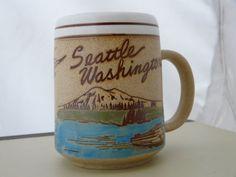Vintage Seattle Washington Souvenir Mug Ye Olde by CampHoneybelle, $9.00