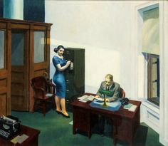 Edward Hopper,Office in the evening , 1940