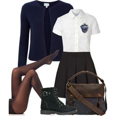 Harry Potter Uniform, Harry Potter Outfits, Dressy Outfits, Teen Fashion Outfits, Cute Outfits, Ravenclaw, Harry Potter Wattpad, School Uniform Outfits, Fandom Outfits