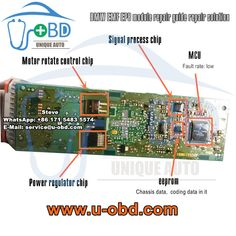 The BMW Electronic parking brake module EMF autohold control unit common fault repair kit