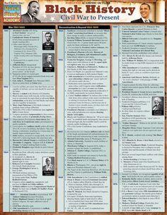Black History: Civil War To Present Laminated Study Guide Black history in America: Fort Sumter to Barack Obama. American Revolutionary War, American Civil War, American History, Captain American, World History Book, Study History, History Magazine, Civil War Photos, Teaching History