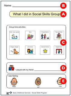 6 week social skills program complete with visuals, materials list, etc.