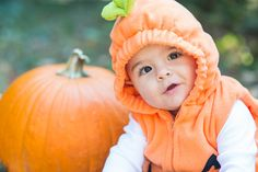 In Honor of Fall and Cute Pumpkin Costumes / DC Fall Baby Photographer