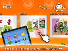 6 topics, 31 educational games > hours of fun Educational Games, Red Riding Hood, Fun Games, Kids And Parenting, Animation, App, Children, Cool Games, Young Children