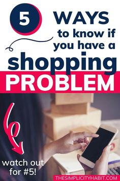 5 ways to know if you have a shopping problem and what to do to get out of debt and change your shopping habits. #shopping #debt #habits #savemoney #simplify Finance Quotes, Finance Books, How To Know, How To Get, How To Plan, Panic Disorder, Budgeting Worksheets, Get Out Of Debt, Consumerism