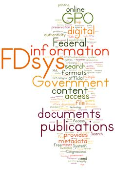 FDsys word cloud