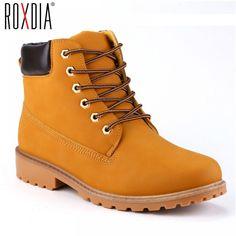 22b490d4 ROXDIA de imitación de cuero de gamuza de los hombres botas primavera Otoño  e Invierno zapatos