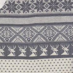 Knit Basics Reindeer Stripe Cotton Lycra Knit - Peek-a-Boo Pattern Shop