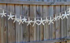 Make your own starfish for this cute garland by using baking clay or homemade salt dough.