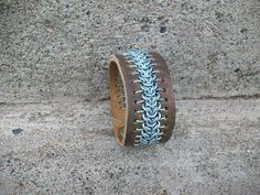 Leather and Chainmaille Cuff