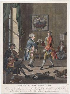 'Grown Gentlemen taught to Dance' 1768. After John Collet