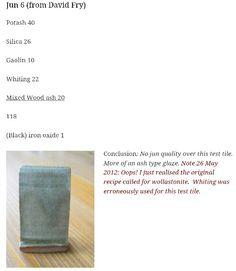Ceramic Glaze Recipes, Pottery Studio, Iron Oxide, Ceramic Artists, Pottery Ideas, Stoneware, Recipies, Tips, Enamels