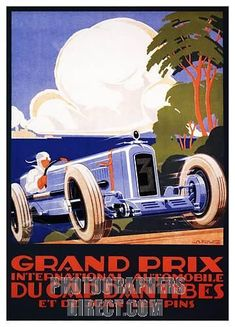 Buy online, view images and see past prices for KOW ALEXIS - Grand Prix International Automobile du Cap D'Antibes et de Juan les Pins vers Invaluable is the world's largest marketplace for art, antiques, and collectibles. Art Deco Posters, Car Posters, Vintage Racing, Vintage Cars, Vintage Auto, French Vintage, Unique Vintage, Vintage Style, Auto Illustration
