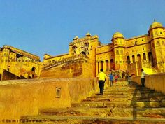 Amer palace is the most beautiful palace of jaipur. amer palace is locted im amer town. It is part of unesco world heritage site. Amer Fort, Our Town, Heritage Site, Jaipur, Amazing Places, The Good Place, Palace, Most Beautiful, To Go