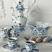 Royal Copenhagen full fluted Blue Lace