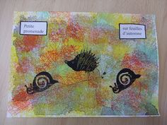 Les petits écoliers: novembre 2010 Painting, Snails, Animaux, Rhymes Songs, Spirals, Hedgehogs, Painting Art, Paint, Draw