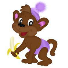 Baby Monkey Cartoon Clip Art | Baby Monkeys - Funny Monkey Images