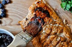 grilled blueberry salmon
