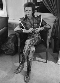 David Bowie in his Ziggy Stardust period pictured in Philadelphia in 1972