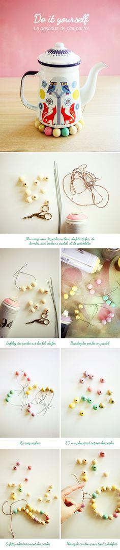 DIY : le dessous de plat pastel